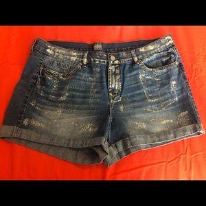 New York & Co metallic shorts